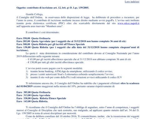Contributo Iscrizione ODCEC di Napoli